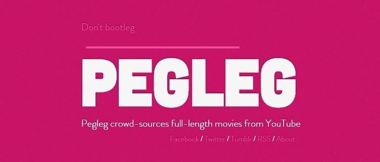 La cabecera de la web de Pegleg