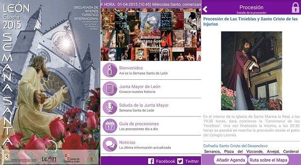 La homepage de Semana Santa León es bastante llamativa