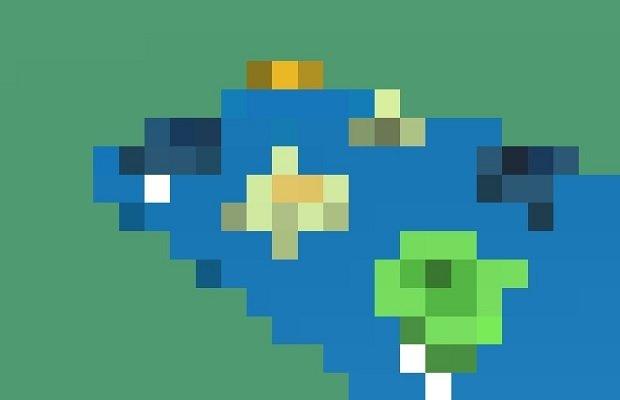 La imagen del fracaso, una interfaz gráfica totalmente pixelada