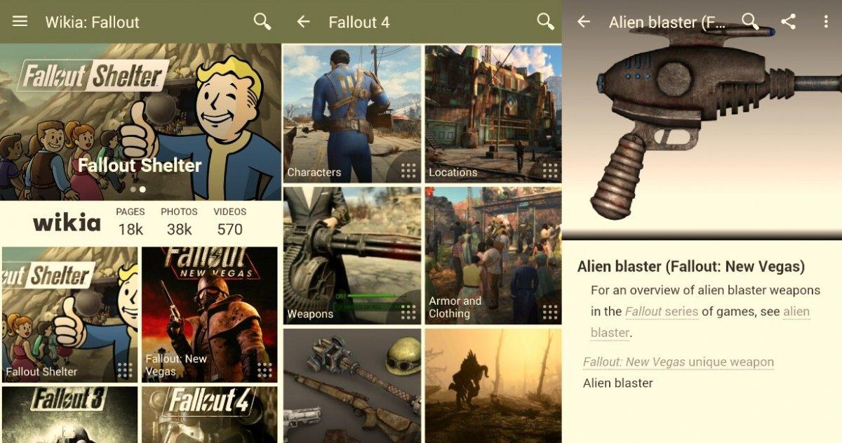 La información más extensa sobre Fallout está en Wikia: Fallout