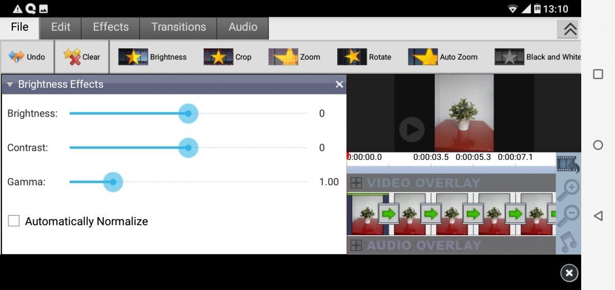 La interfaz de VideoPad está un pelín obosleta