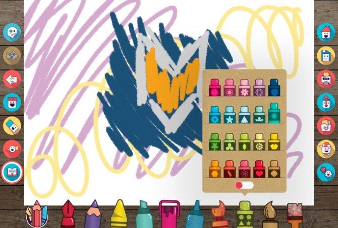 La interfaz es muy colorida y fácil de comprender para cualquier niño