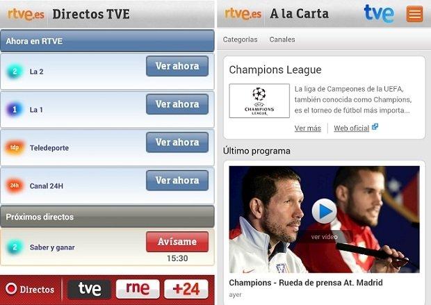 La mejor solución es ver el partido a través de la app de RTVE
