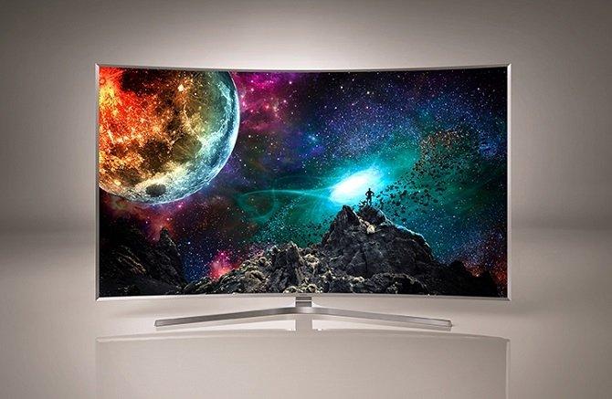 La pantalla curva del Samsung SUHD TV