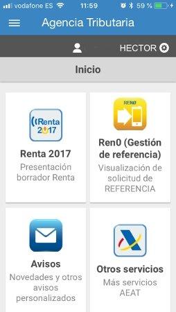 La primera opción permite consultar el borrador de la Renta 2017 y presentarlo