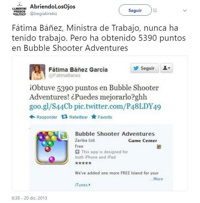 La publicación automática que delató a Fátima Báñez