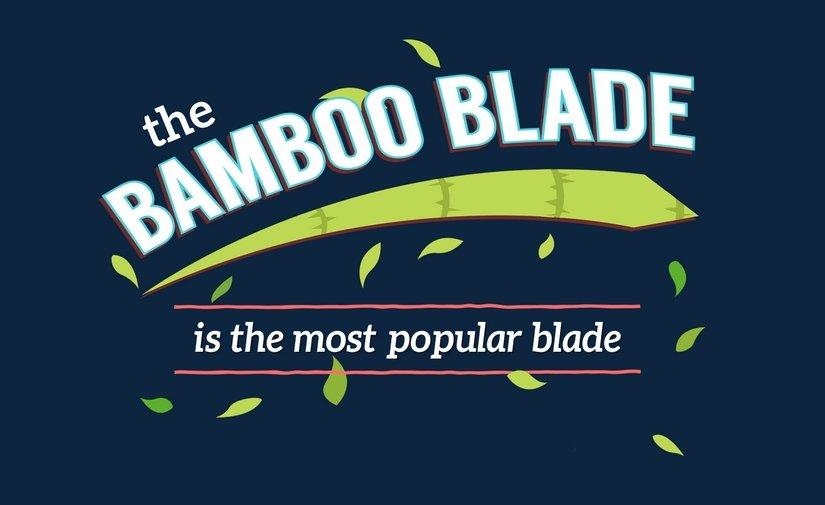 La técnica más popular es la del Bamboo Blade