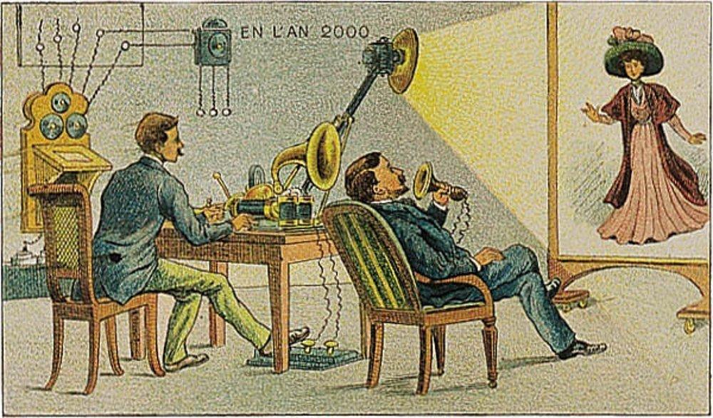 La videoconferencia plasmada 100 años atrás