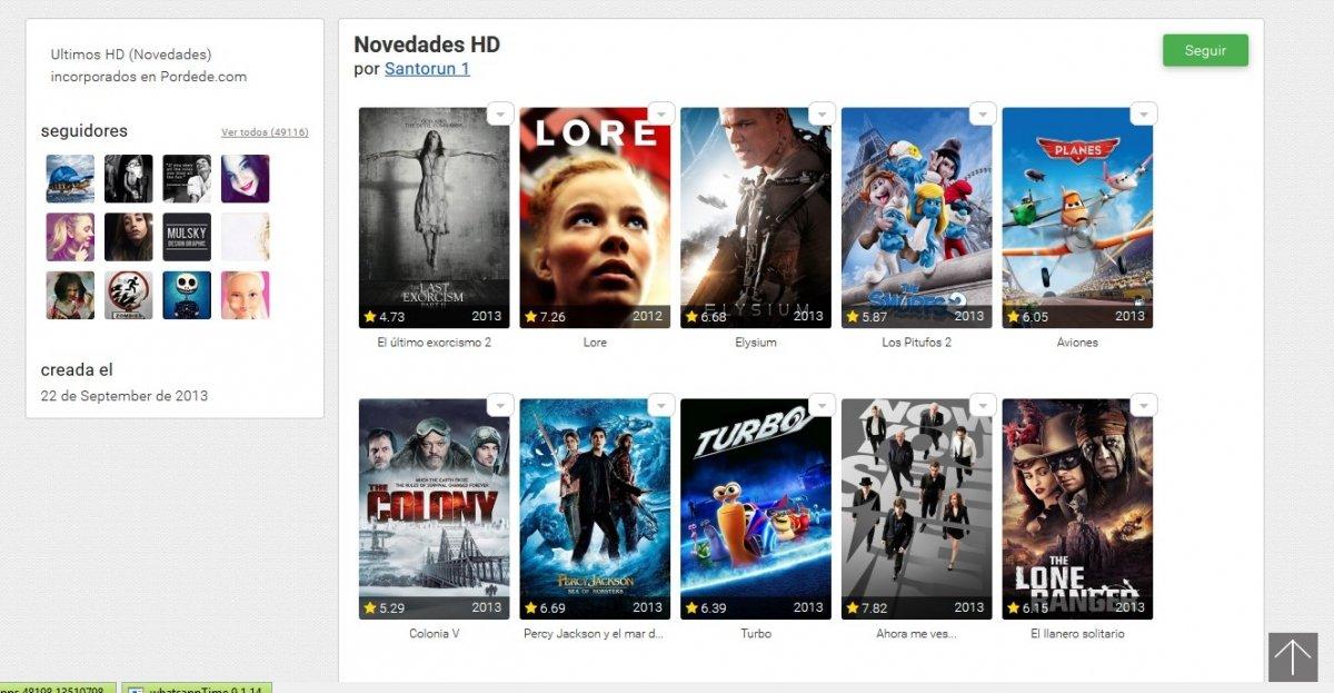 Las listas de Pordede son un buen método para descubrir series y películas