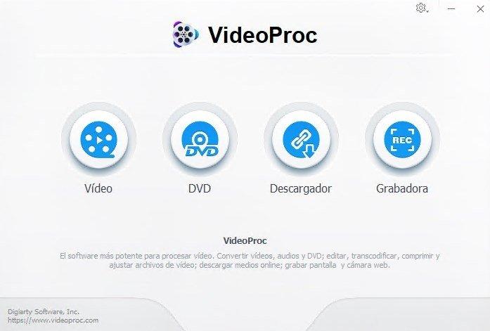 Las principales funciones de VideoProc