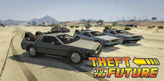 Las tres versiones del DeLorean de Regreso al futuro para GTA V