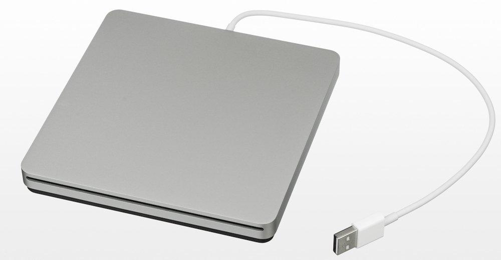 Lector externo SuperDrive de Apple, con conexión mediante USB
