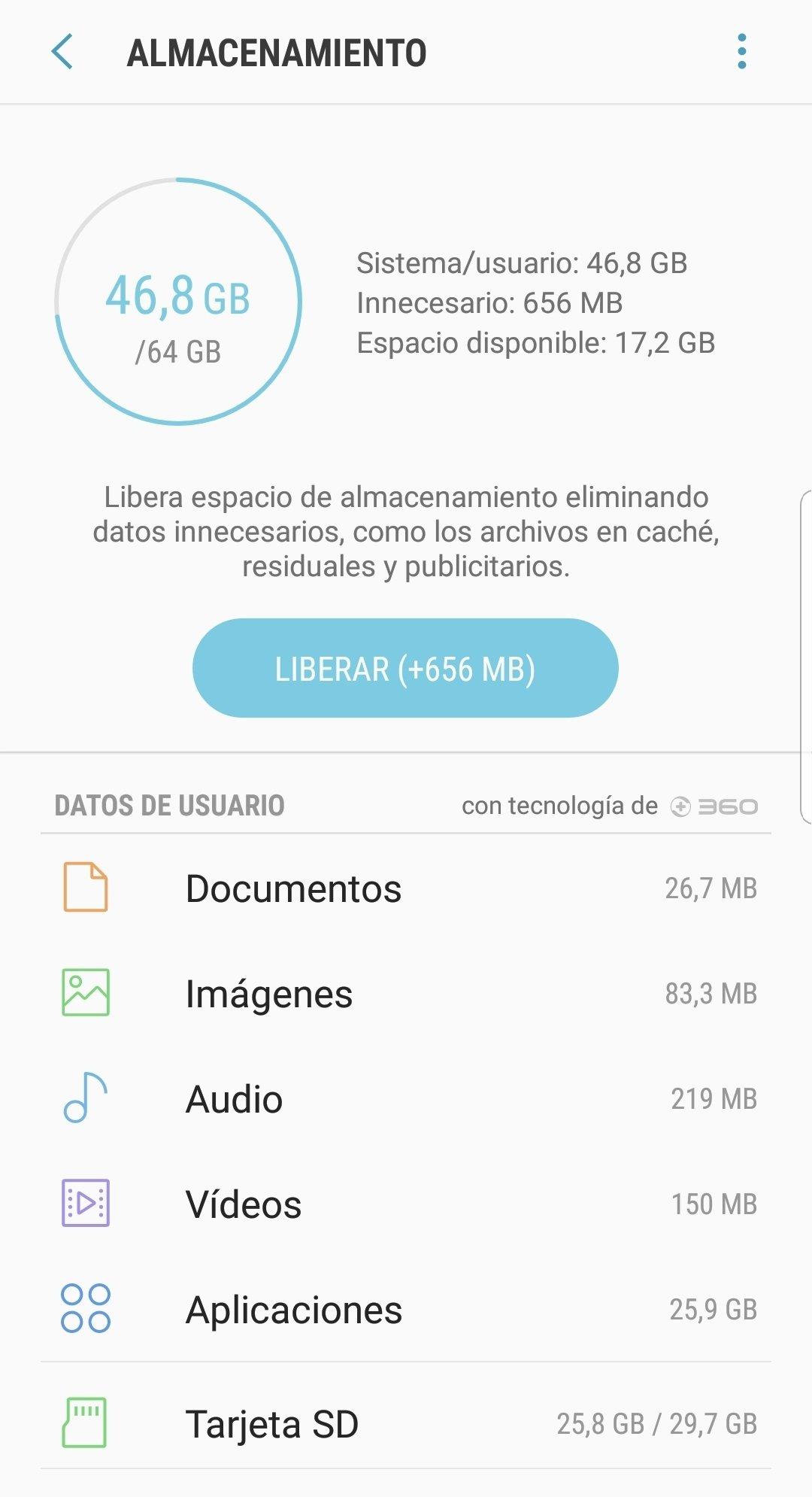 Liberador de espacio de Android