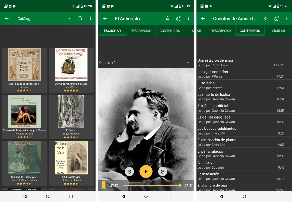 Librivox ofrece audiobooks en español