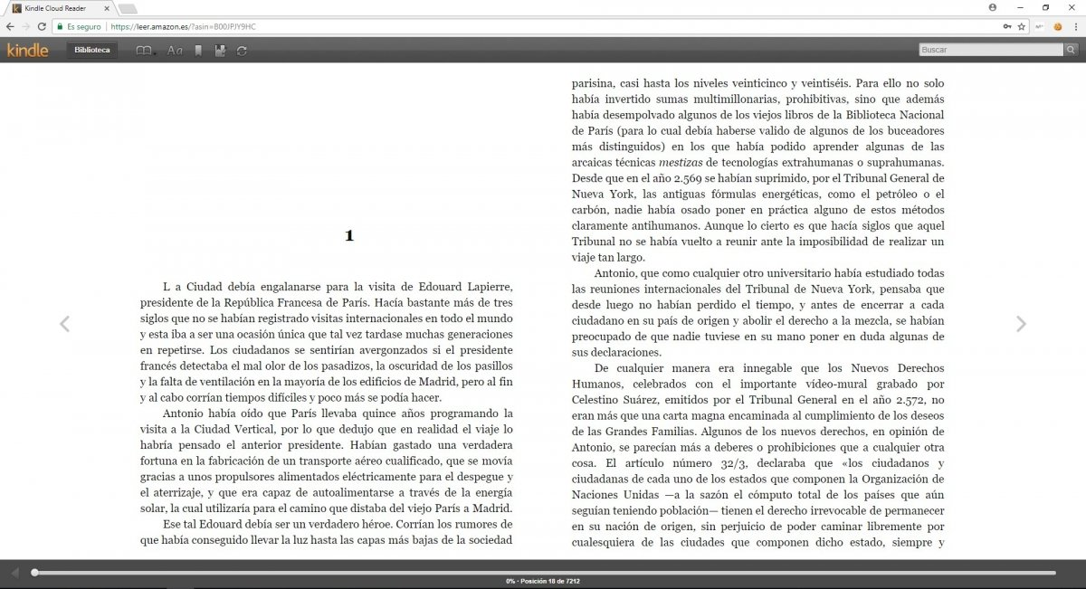 Libro gratuito en Kindle Cloud Reader