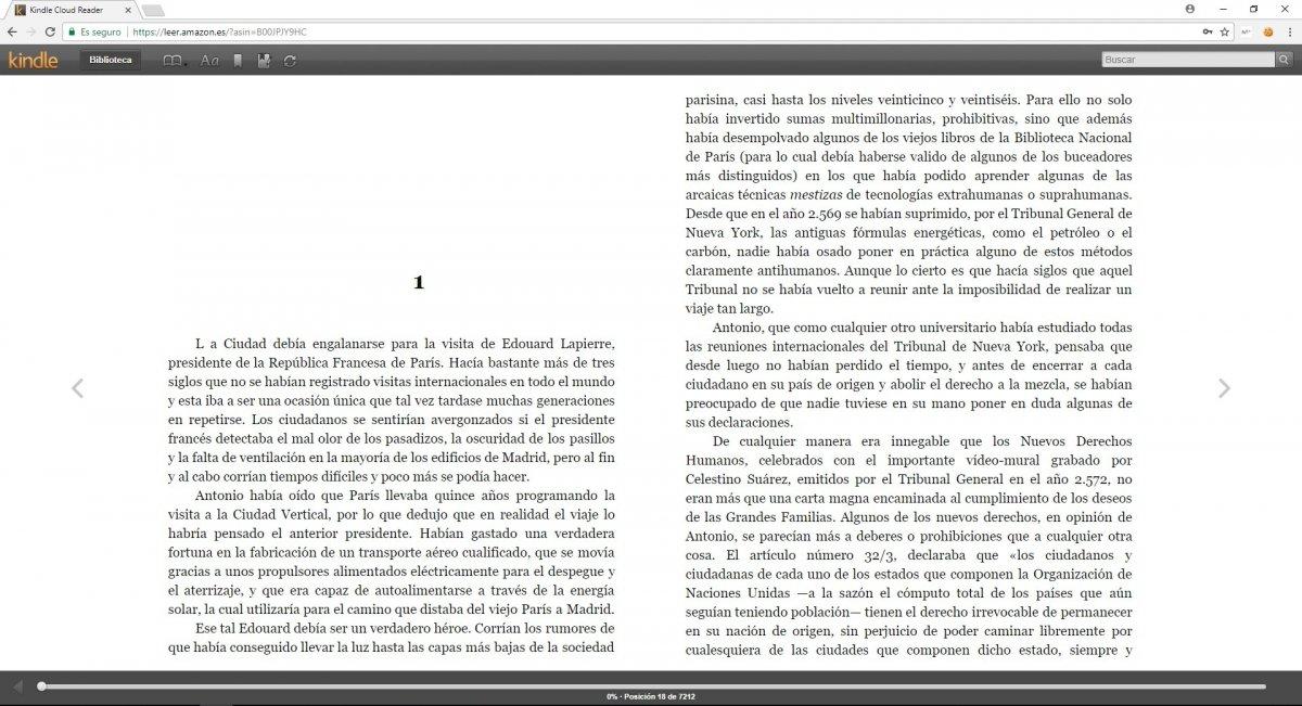 Libro gratuito en Kindle Cloud Reader