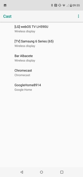 Lista completa de dispositivos detectados