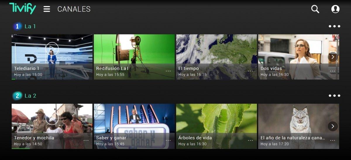 Lista de canales de Tivify