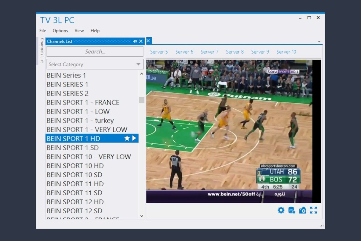 Lista de canales de TV en TV 3L PC