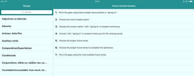 Lista de ejercicios sobre el futuro en inglés