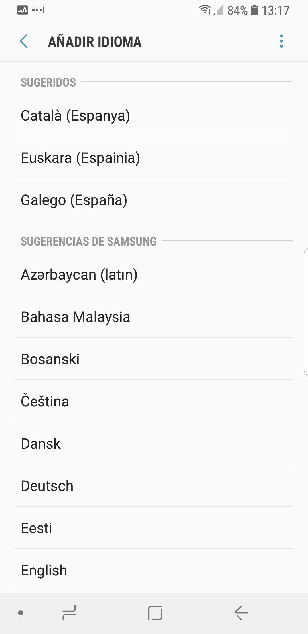 Lista de idiomas soportados por Android
