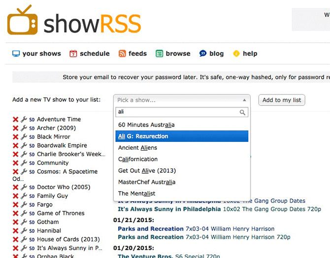 Automatiza la descarga de series con showRSS y Torrent