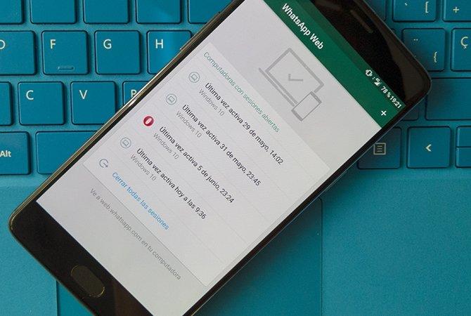 Listado de equipos con acceso a WhatsApp Web