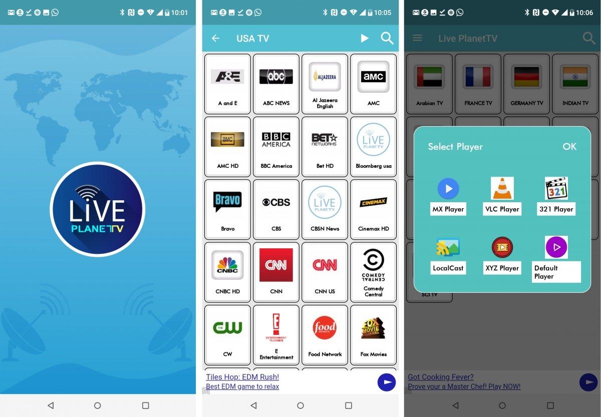 Live Planet TV es otra app de ver TV en Android