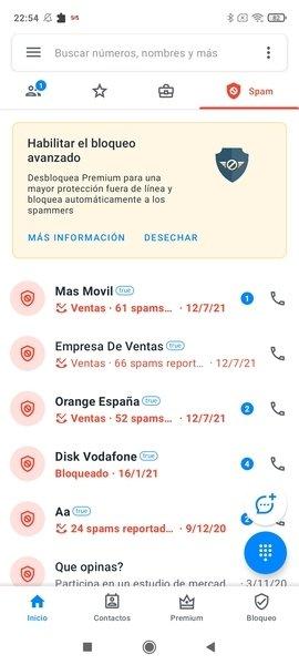 Llamadas bloqueadas en TrueCaller