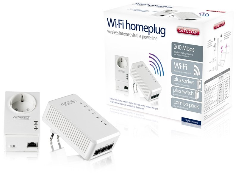 LN-531 Wi-Fi Homeplug 200 Mbps Combo Pack