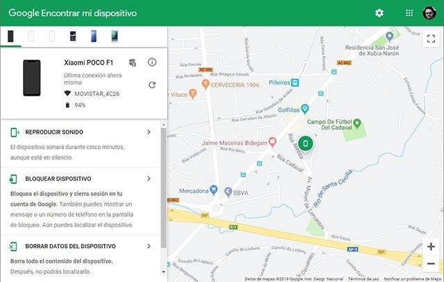 Localización en el mapa de un terminal Android