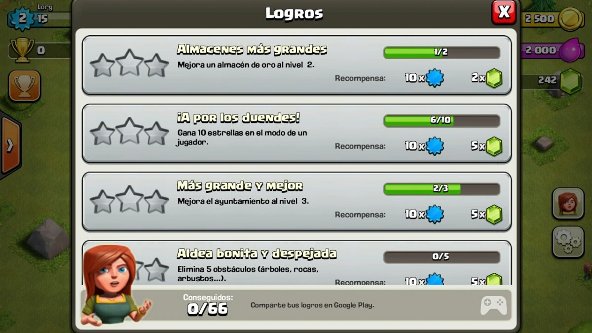 Logros del Clash of Clans