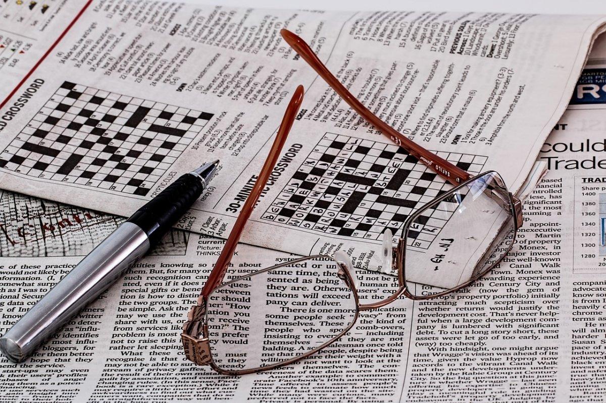 Los crucigramas de un periódico