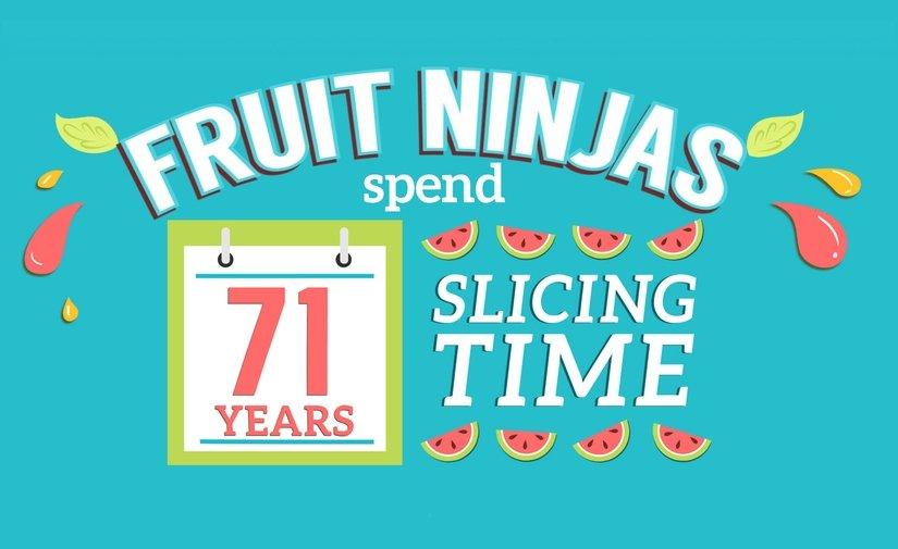 Los ninja de la fruta llevan en total 71 años rebanando piezas