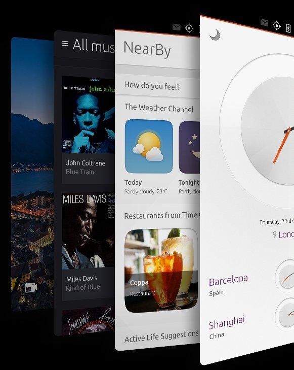 Los scopes, que agrupan información por temática, son característicos de Ubuntu Touch