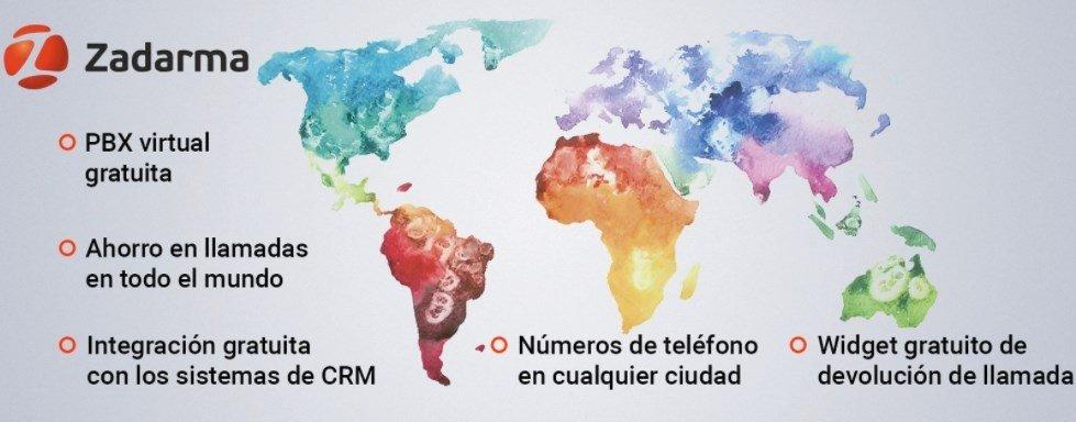 Los servicios de Zadarme funcionan en decenas de países de todo el mundo