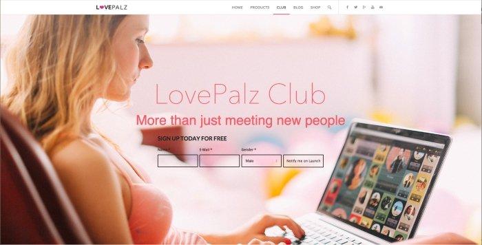 Captura de pantalla de la red social Love Paltz