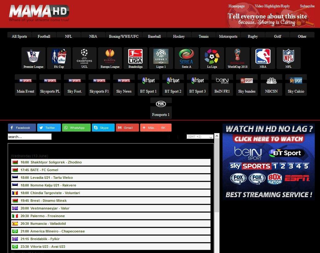 MamaHD es de las mejores webs de streams