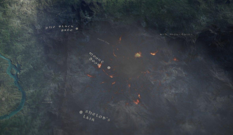 Mapa aéreo de la Tierra Media