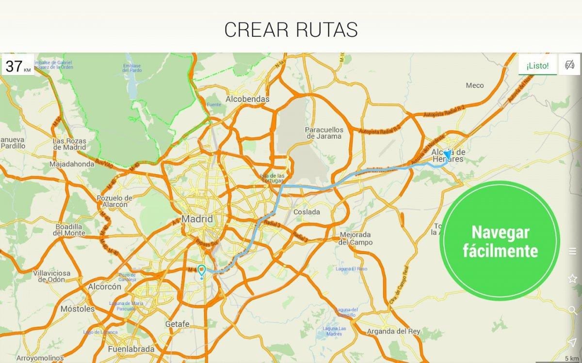 MAPS.ME permite planificar rutas con antelación