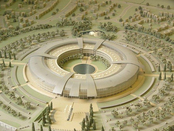 Maqueta del Cuartel General de GCHQ