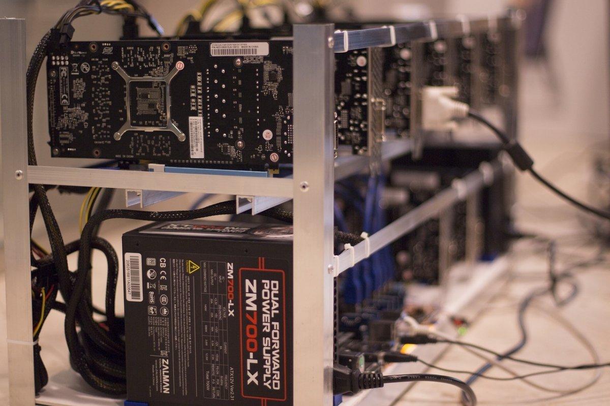 Máquina de mineo de bitcoins