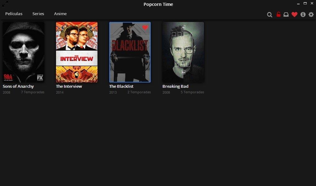 Marca películas y series como favoritos