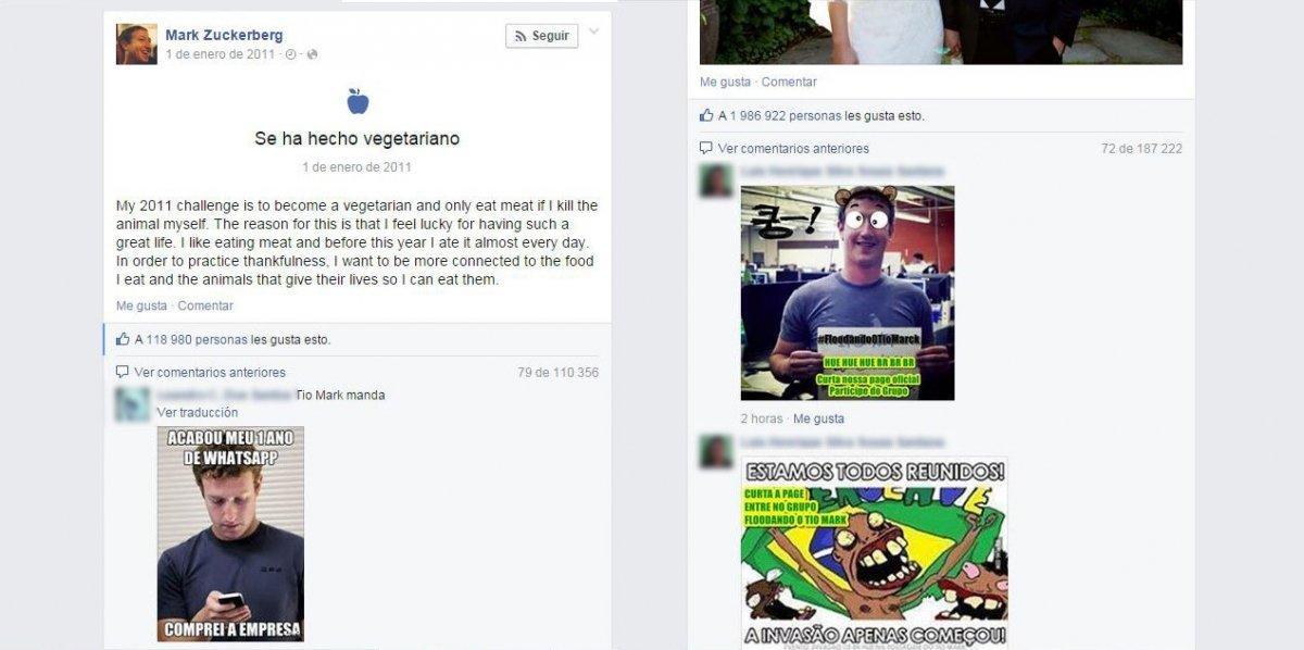 Mark Zuckerberg víctima de un ataque troll masivo - imagen 2