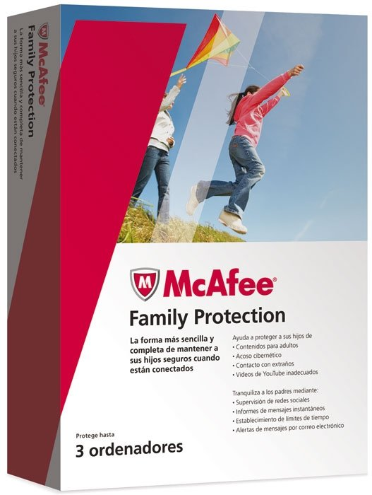 McAfee Family Protection 2 caja