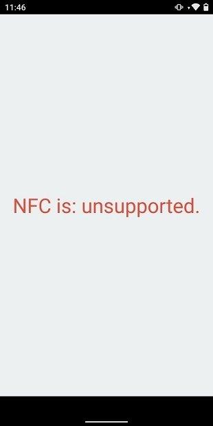 Mensaje de NFC Enabled