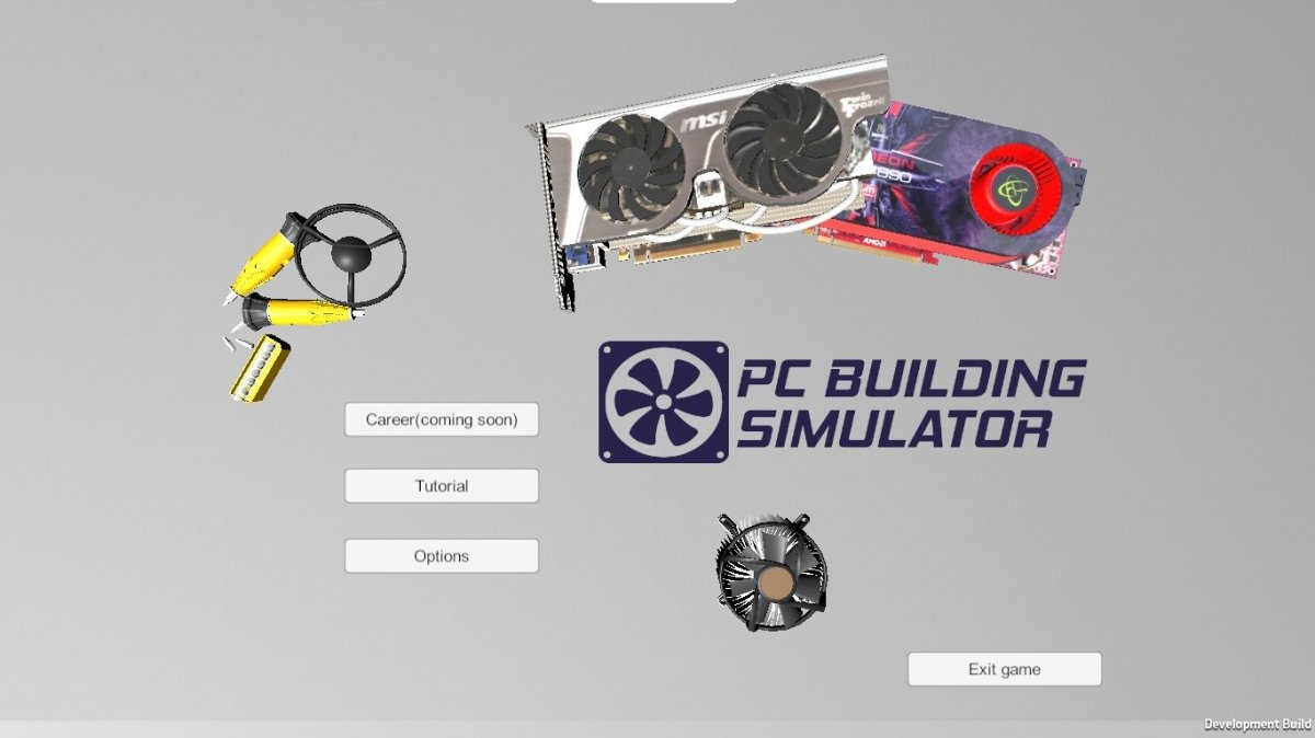 Menú de PC Building Emulator