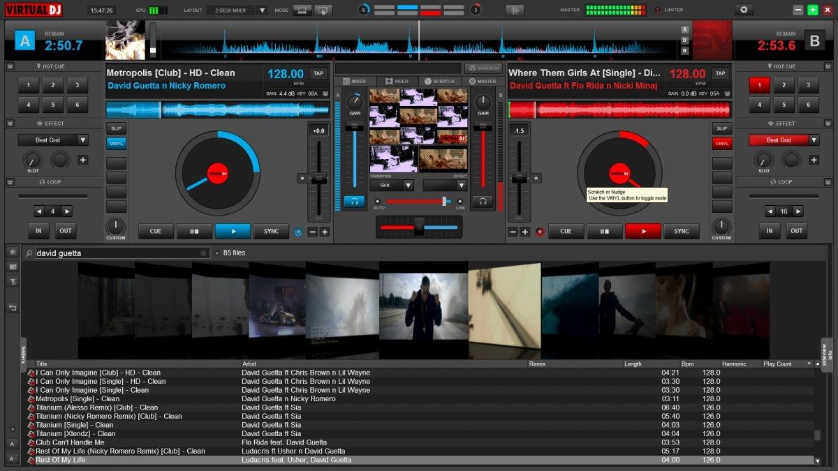 Mezcla de video con Virtual DJ