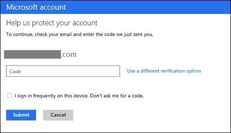 Microsoft autenticación en dos pasos
