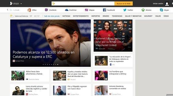 Microsoft renueva su portal de noticias de MSN